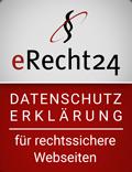 eRecht24 - Rechtssichere Datenschutzerklärung
